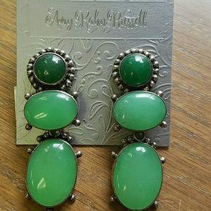 Green Quartz Sterling Amy Kahn Russell Bold Green